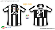 Juventus FC 201213 home shirt. Juventus' home shirt for the 2012/13 season.