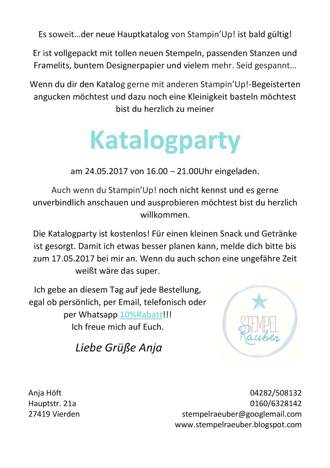 Einladung zur Katalogparty