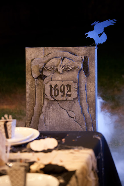 Cricut Halloween headstone chair