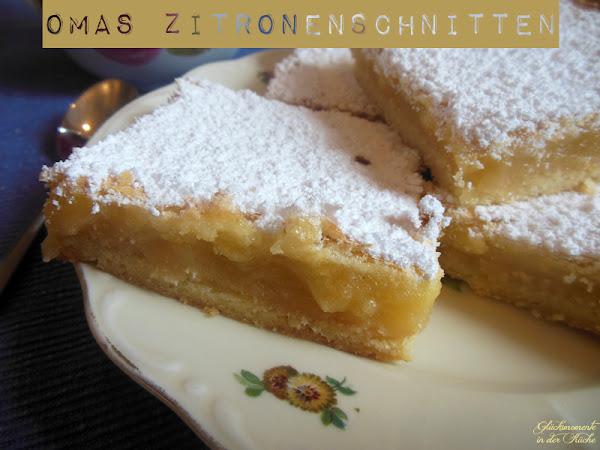 Herziges für meinen Blog: Zitronenschnitten - Gastpost von Glücksmomente aus der Küche