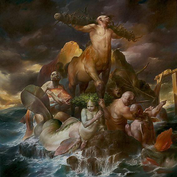 Viktor Safonkin pinturas surreais sombrias medievais mitológicas religião subconsciente Portões mágicos secretos