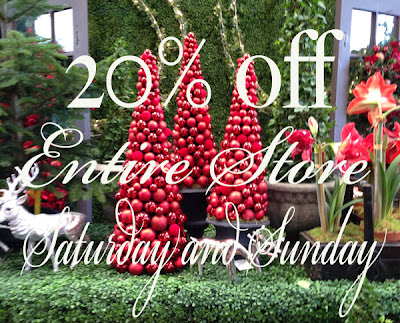 20% Entire Store  Saturday & Sunday Click here once to avail the discount then enjoy  shopping!