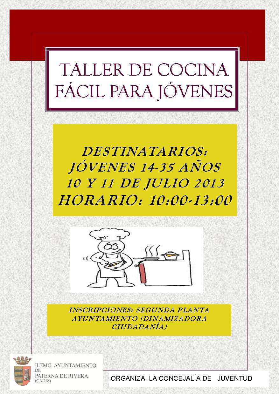 Excmo ayuntamiento de paterna de rivera taller de cocina for Videos de cocina facil