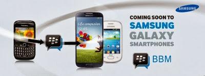 """El día de hoy BBM fue lanzado oficialmente para iOS y Android en sus respectivas tiendas de aplicacionesde forma gratuita para todos los usuarios. 21 de Octure de 2013 – Hoy, Samsung ha anunciado que la próxima BBM ™ aplicación estará disponible en el Google Play y la tienda Samsung App pronto y disposición de todos los consumidores de teléfonosinteligentes Samsung Galaxy en toda África. Dice George Ferreira, vicepresidente y director de operaciones de Samsung Electrónica África: """"En Samsung estamos en la colaboración, la innovación y la experiencia de conducción de los consumidores sobre la base de opciones, valor y"""