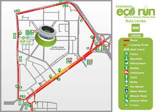 Rute 10K Pertamina Eco Run 2015 Jakarta