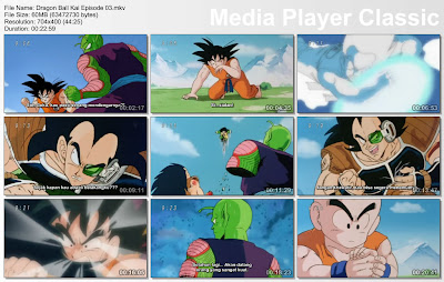 "Download Film / Anime Dragon Ball Kai Episode 03 ""Pertarungan Kematian, Keputusasaan Goku dan Picollo!"" Bahasa Indonesia"