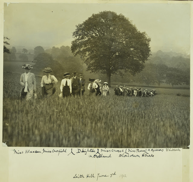 Leading ladies -  1912 GA Field Excursion to Leith Hill. From the Geologists' Association 'Carreck Archive'