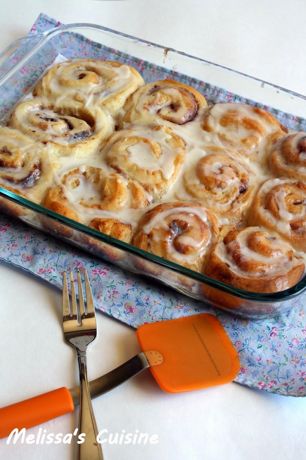 Melissa's Cuisine: Pioneer Woman's Cinnamon Rolls