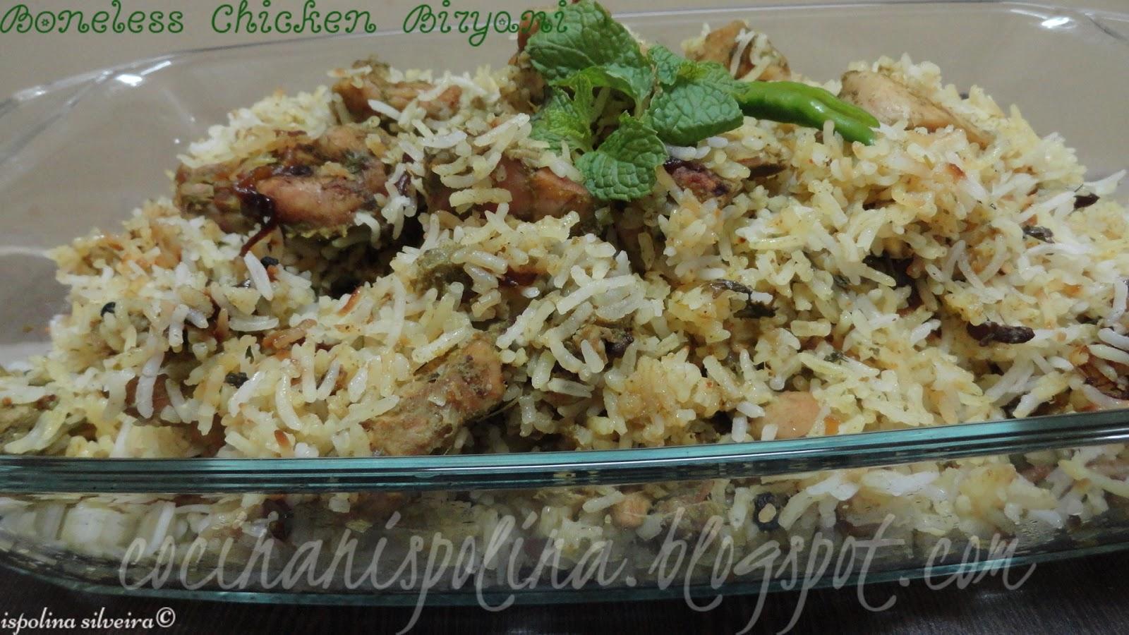 how to make boneless chicken biryani