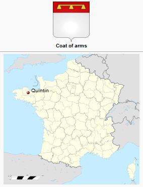 Το Quintin της Βρετάνης (Γαλλία). http://leipsanothiki.blogspot.be/