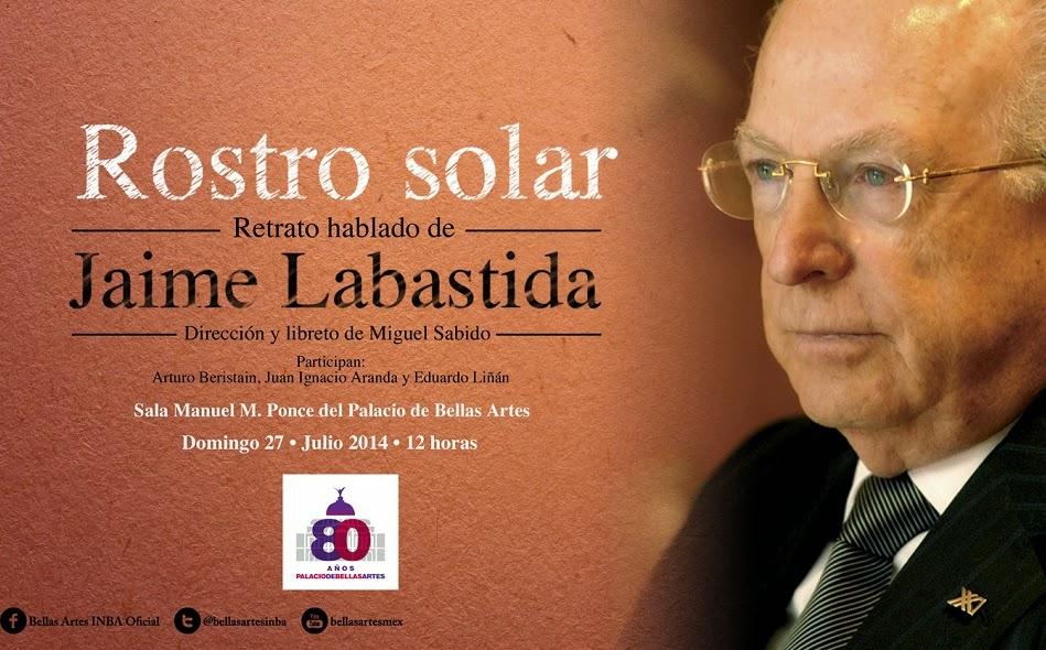 Recital en homenaje al poeta Jaime Labastida en Bellas Artes