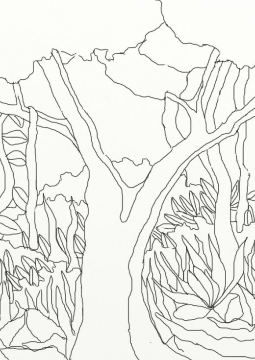 A Couple Of Forest Coloring Pages That I Drew