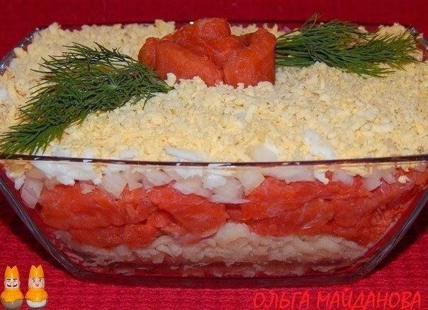 Салаты из красной рыбы с фото