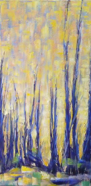 oleo amarillo y azul