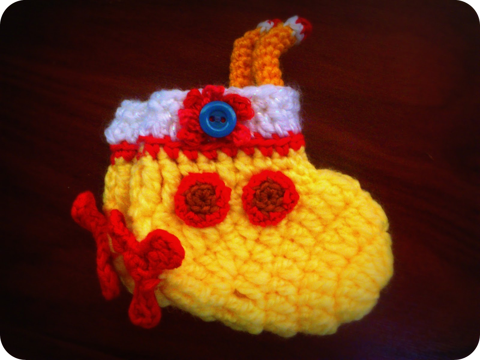 We All Live In A Yellow Submarine Yarn Over Hook