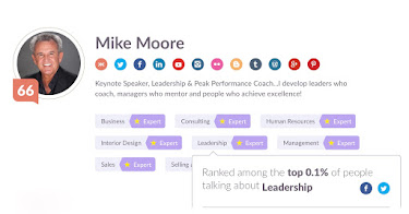KLOUT SCORE & AREAS OF EXPERTISE