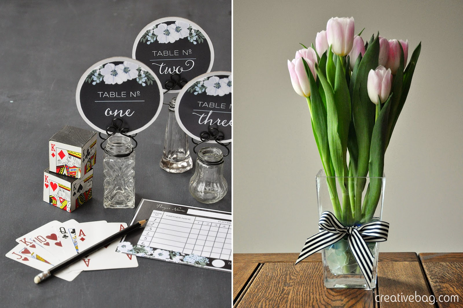 host a euchre party with a sweet table | Creative Bag
