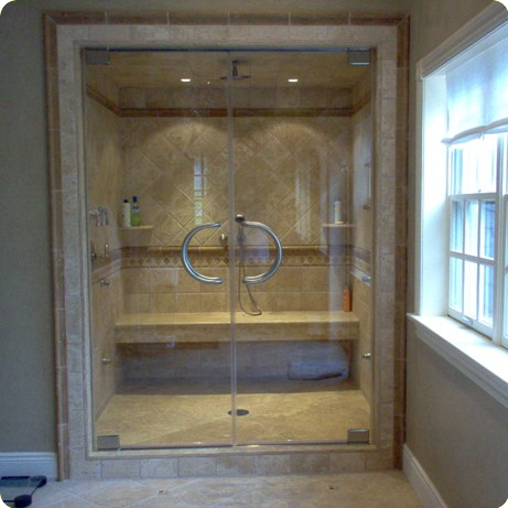 Custom frameless shower glass doors seattle bellevue issaquah wa hinged glass shower door planetlyrics