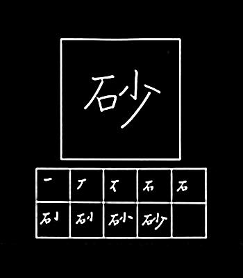 kanji pasir