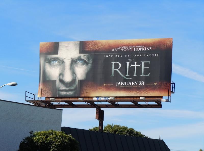 Rite movie billboard