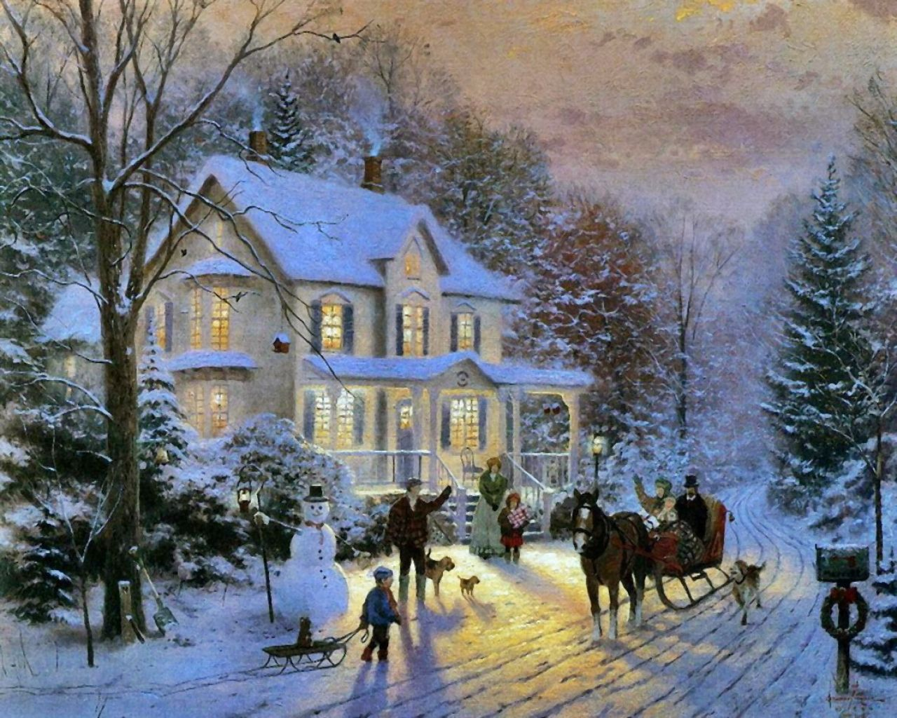 here are some of the best thomas kinkade christmas paintings we could find please let us know if there are more
