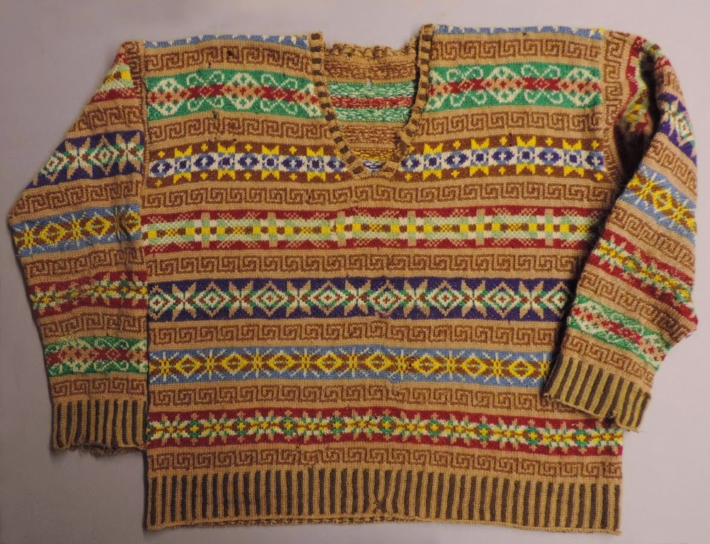 Knitting Now and Then: A 1930s Fair Isle Sweater
