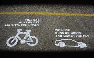 diferença entre o carro e a bicicleta