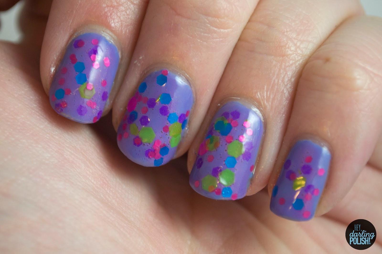 glossome polish, indie, indie polish, indie nail polish, swatch, hey darling polish, purple, girly things,