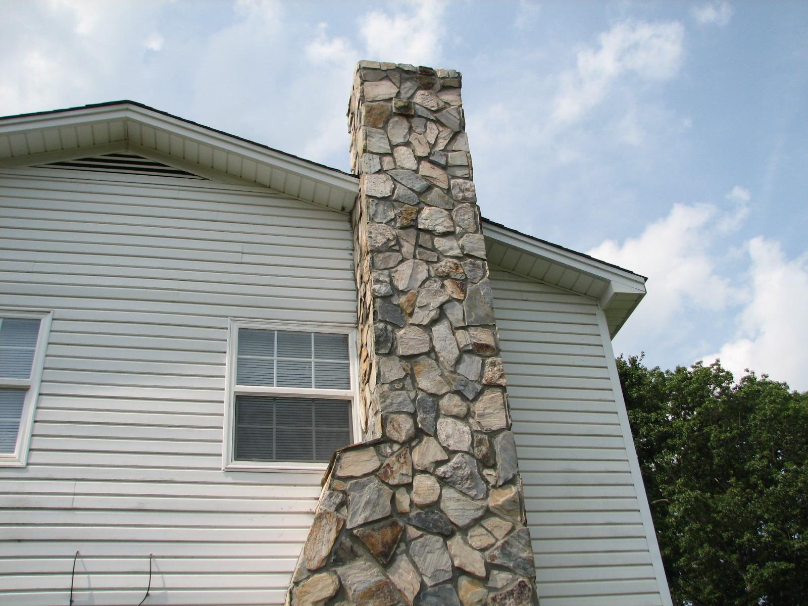 stone on house