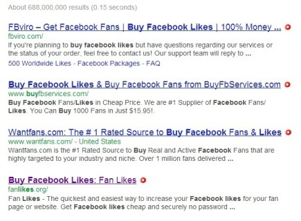 Buy Fake Facebook Likes