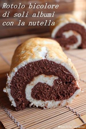 Rotolo di pasta biscotto bicolore