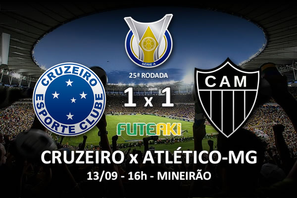 Veja o resumo da partida com os gols e os melhores momentos de Cruzeiro 1x1 Atlético-MG pela 25ª rodada do Brasileirão 2015.