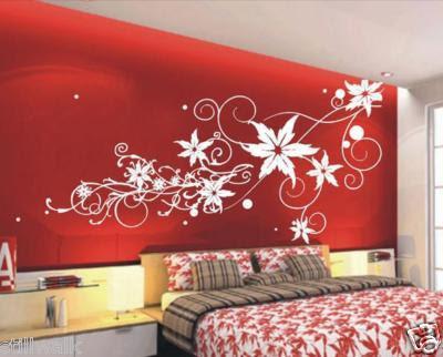 Decoracion actual de moda paredes decoradas con dibujos for Vinilos decorativos para habitaciones matrimoniales