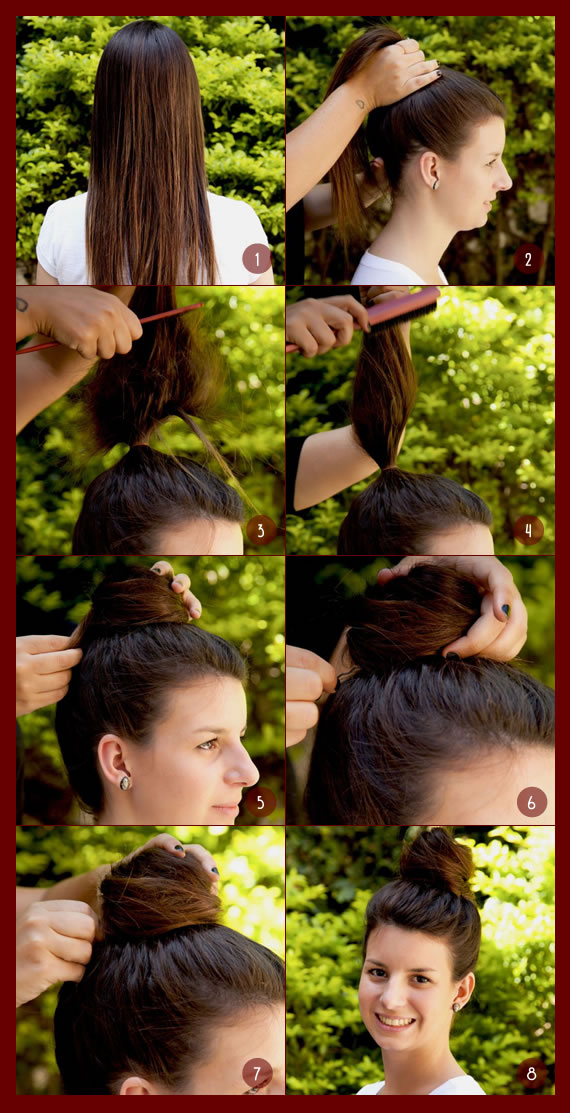 Tutorial do penteado coque alto