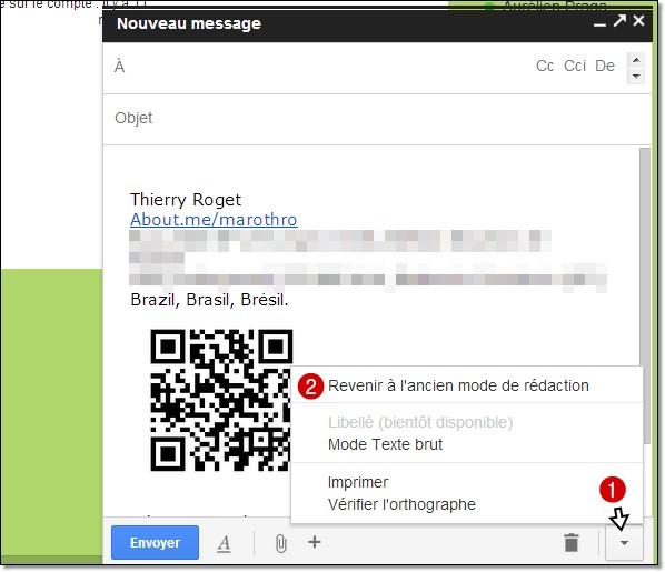 comment revenir à l'ancienne interface gmail