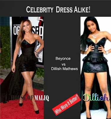 Beyonce Vs Dillish who rocked the Black Sequined Dress Better .