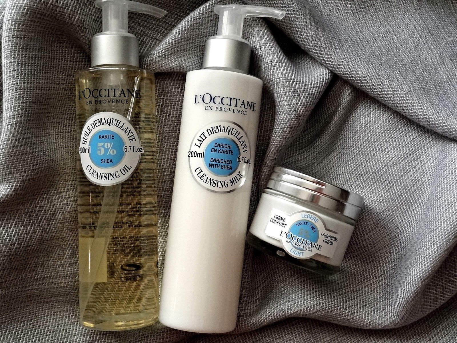 L'Occitane Shea Butter Comforting Skincare Collection | Cleansing Milk, Cleansing Oil and Light Comforting Cream Review, Photos