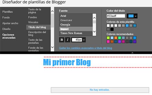 opciones avanzadas blogger