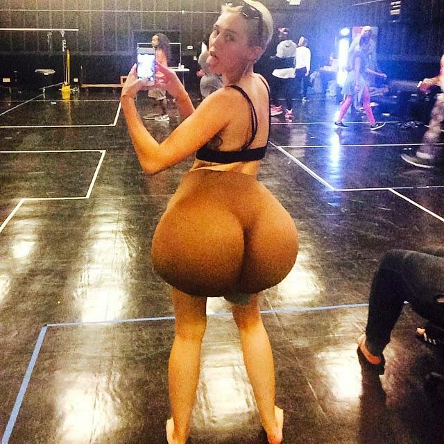 Miley Cyrus imita a Nicki Minaj