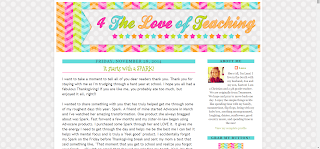 screenshot of lana's blog 4theloveofteaching