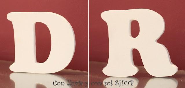Letras de madera letras decorativas - Letras de madera decorativas ...