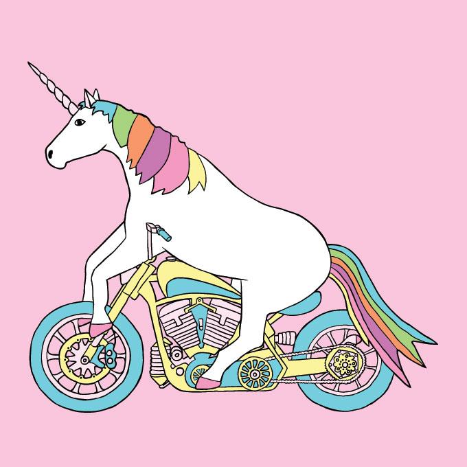 unicorn riding harley original