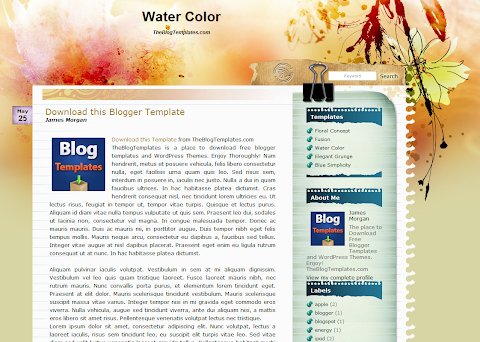 Water Color Blogger Theme