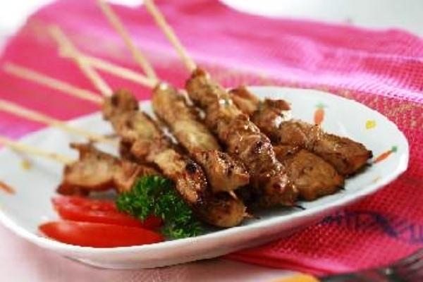Sweet Chicken Satay. Nusantara Culinary