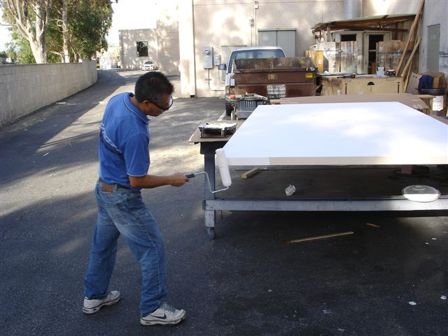 la art machine needed some serious oversize canvases for the los angeles art show and castelli was ready willing and able to assist