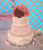 Three tiers wedding cake