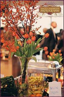 Decoracion de Mesas para Buffet, Centros y Arreglos Florales, parte 2