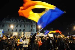 protest in romania