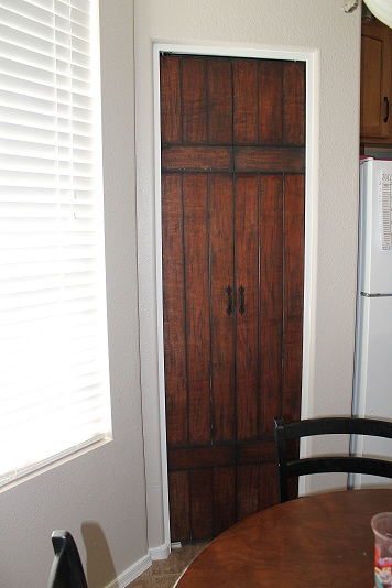 Turning Bi Fold Doors Into Faux Barn Door