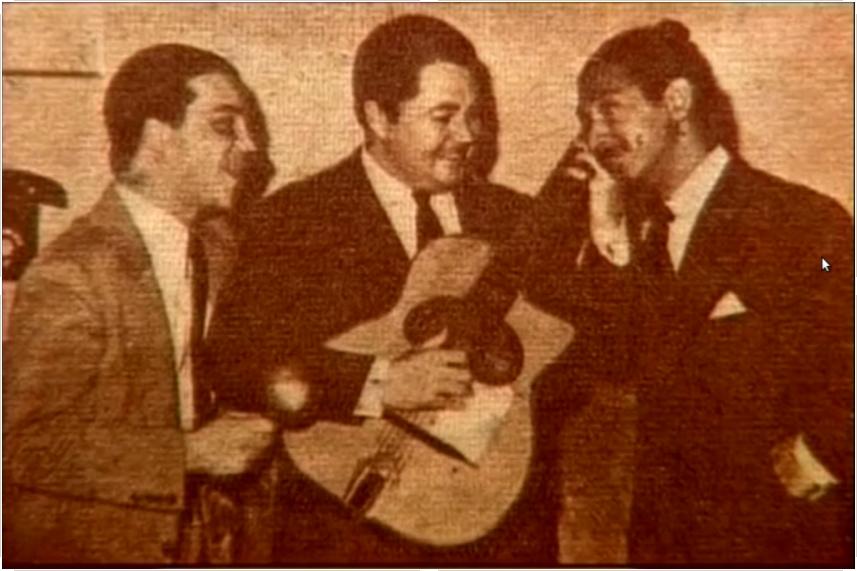 Alberto Marino, Anibal Troilo y Oscar Alemán
